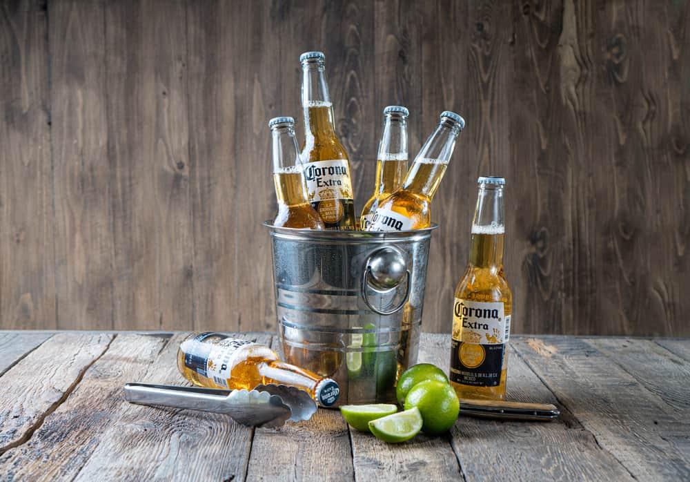 corona with lime or lemon