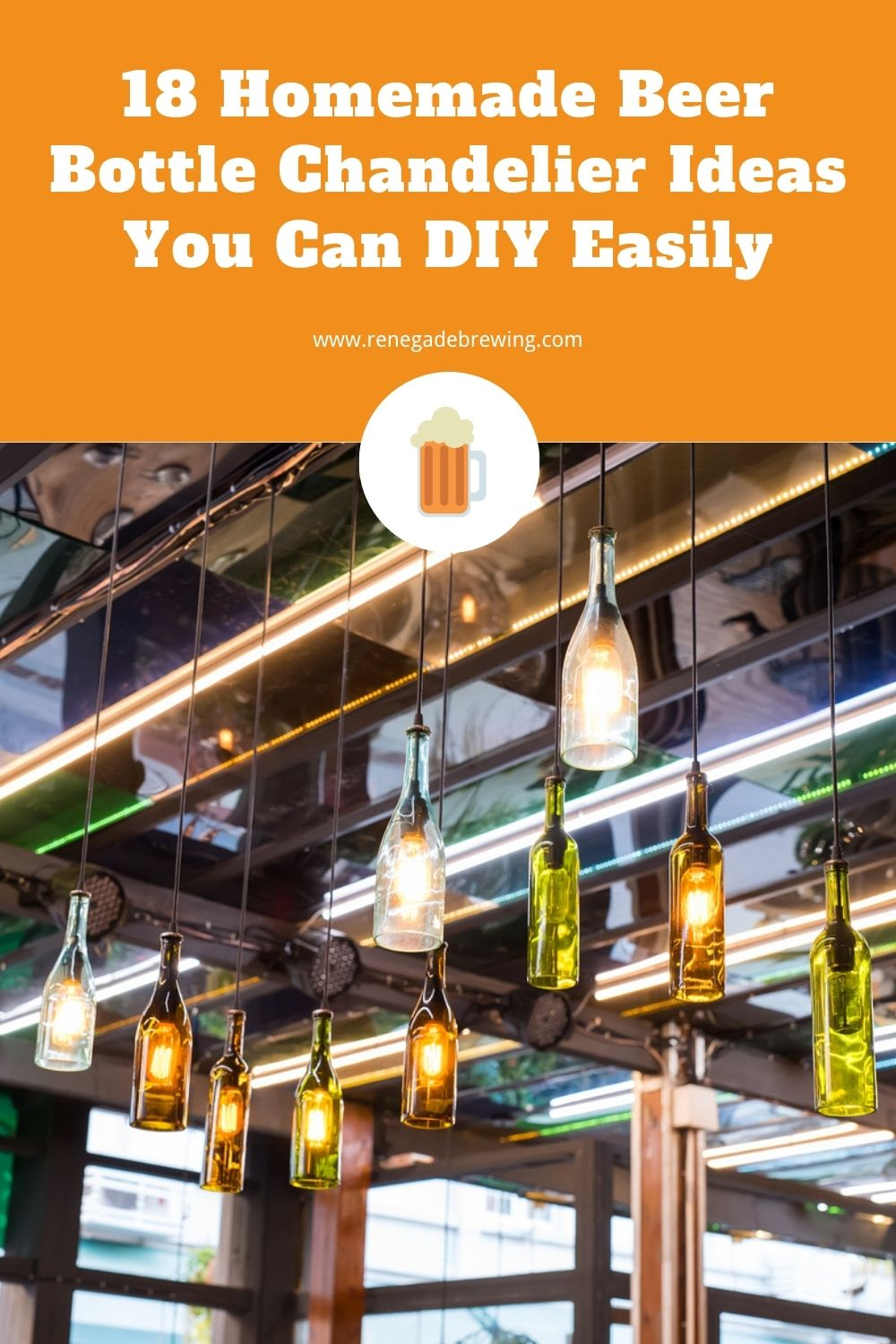 18 Homemade Beer Bottle Chandelier Ideas You Can DIY Easily 1