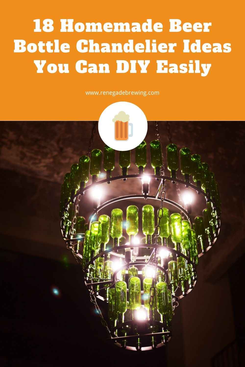 18 Homemade Beer Bottle Chandelier Ideas You Can DIY Easily 2