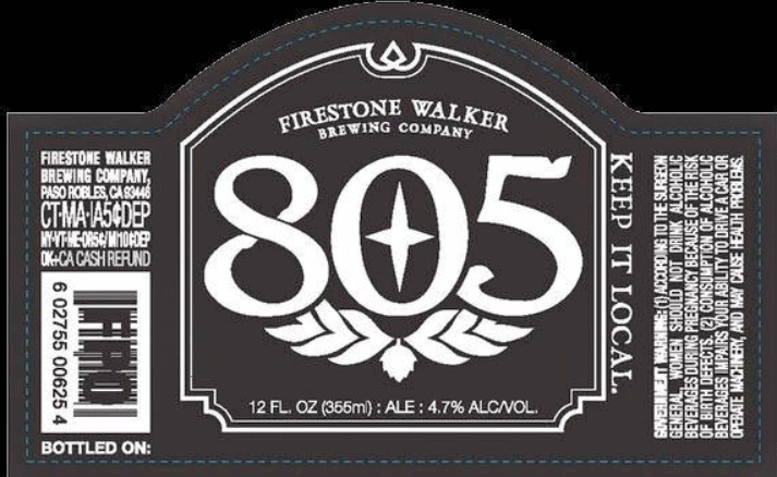 Alcohol content for 805 beer