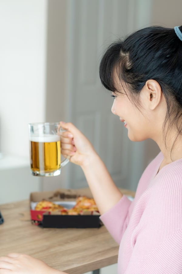 Drinking beer and hair health