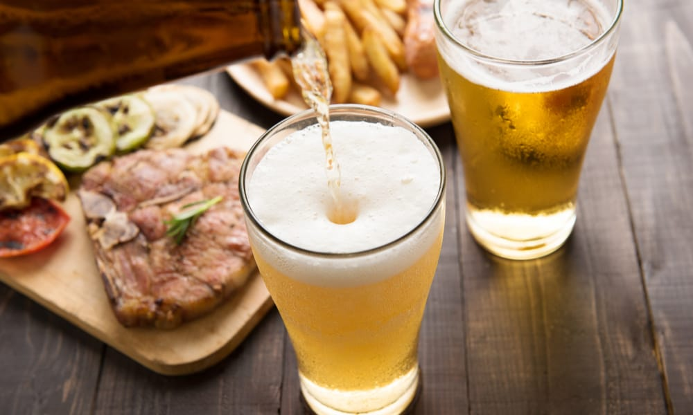 Food pairing for 805 beer