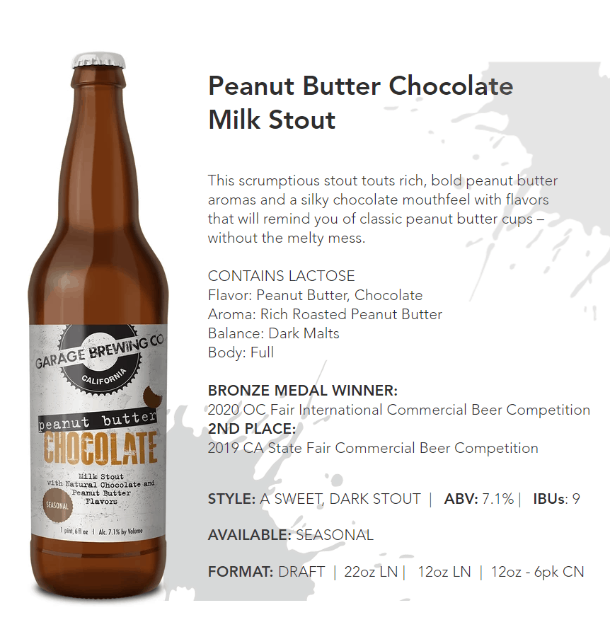 Garage Brewing Peanut Butter Chocolate
