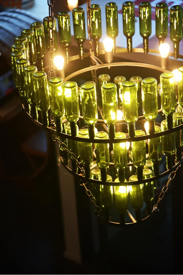 Make your own beer bottle chandelier