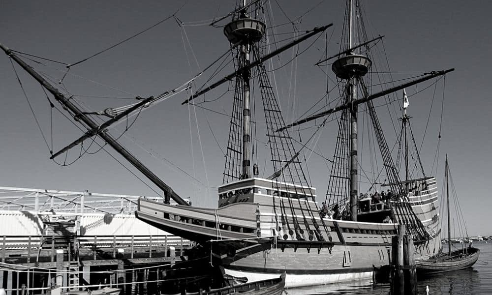 Mayflower landed at Plymouth Rock