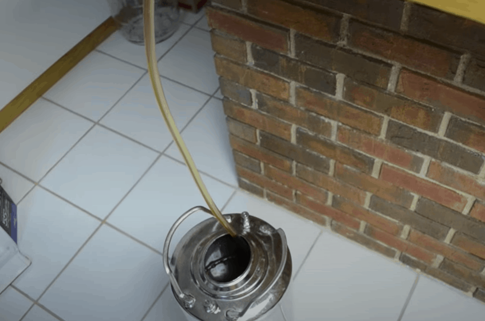 Siphon your beer into your keg