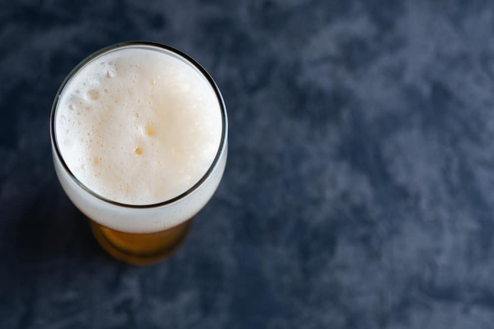 The effects of foam on a beer flavor