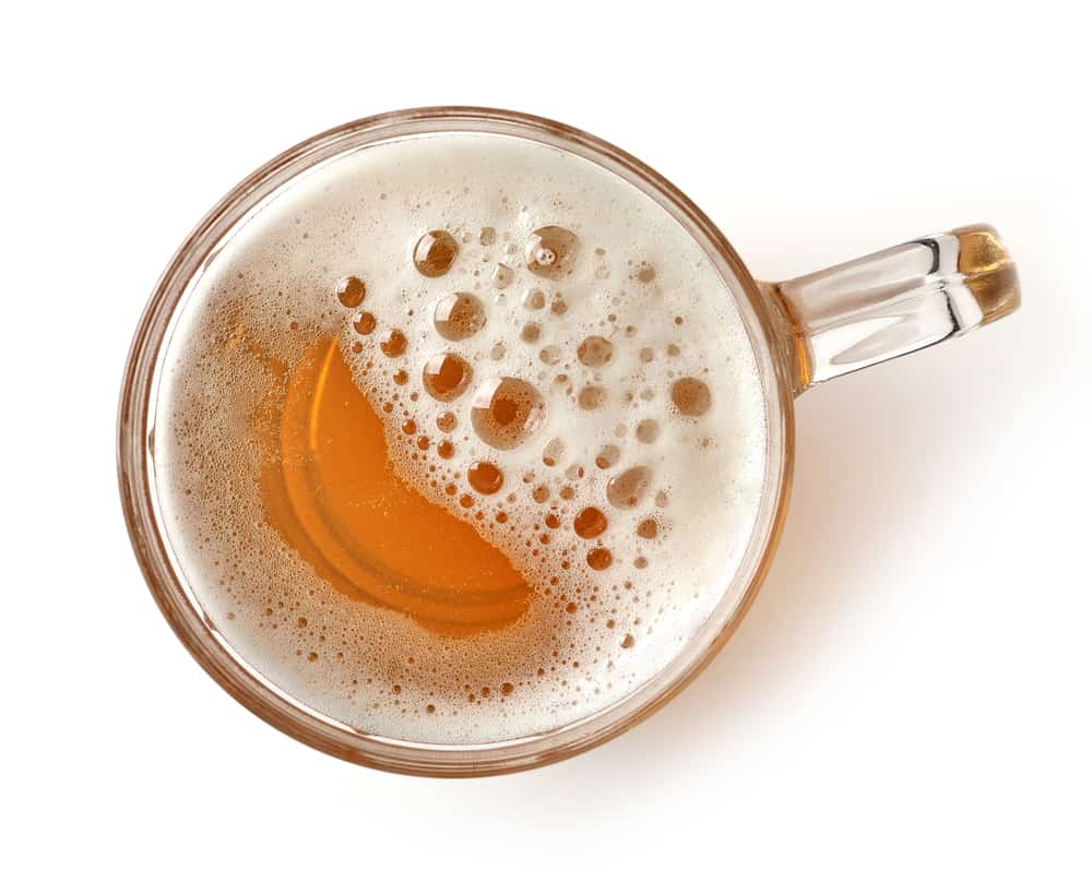 What are the factors that cause moreless foam in a beer
