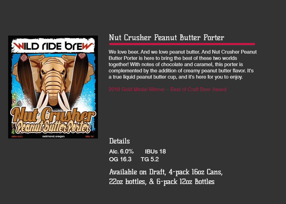 Wild Ride Brewing Nut Crusher
