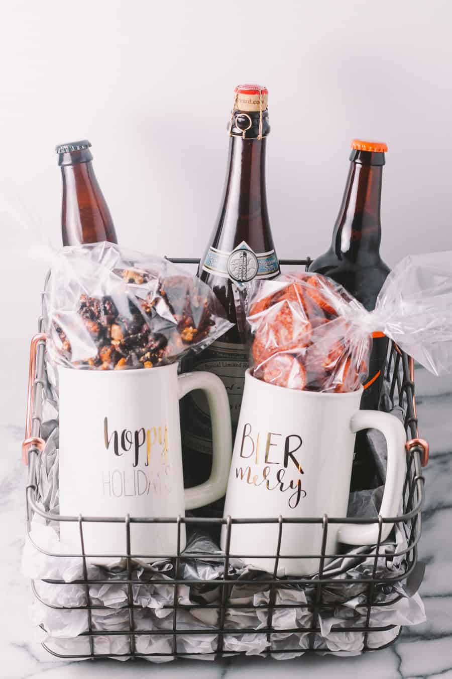 homemade holiday gift basket for the beer lover in your life