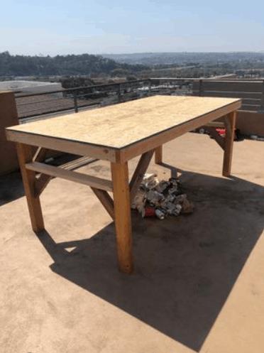 Building a beer die table
