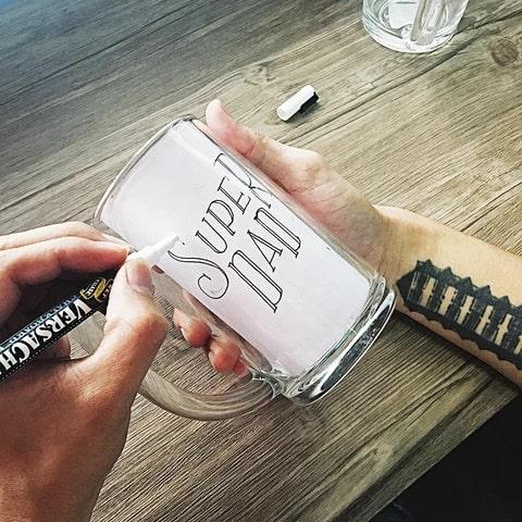 DIY Chalkboard Beer Mug