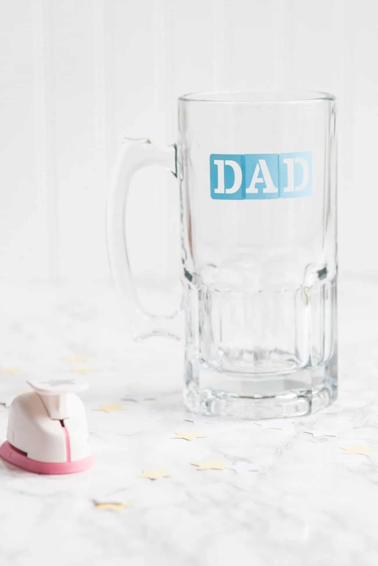 DIY Etched Beer Mugs for Dad