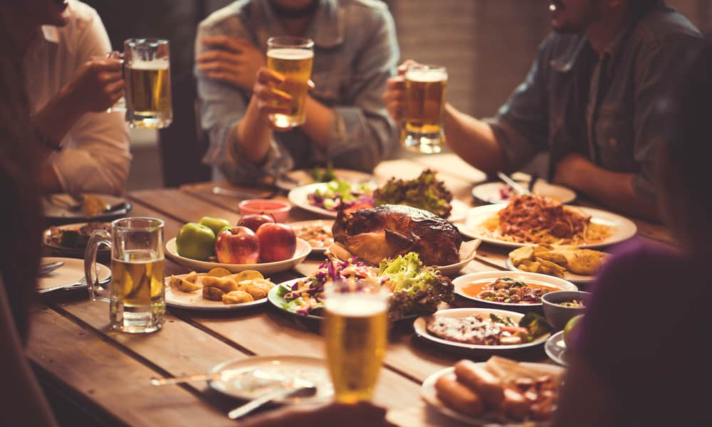 Food with beer