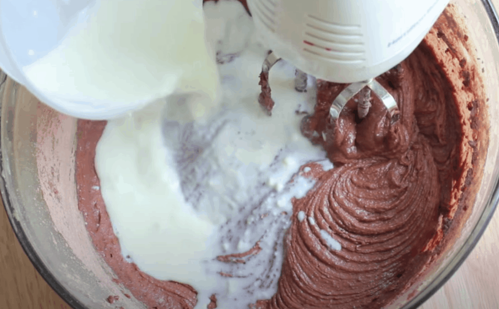 Mix the cake batter