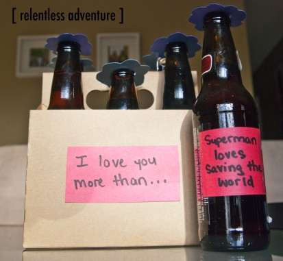 Valentine's Day DIY A beerbouquet