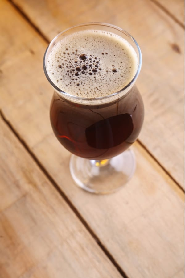 What's the time duration for aging a beer