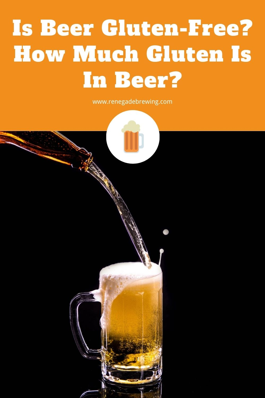 Is Beer Gluten-Free How Much Gluten Is In Beer 2