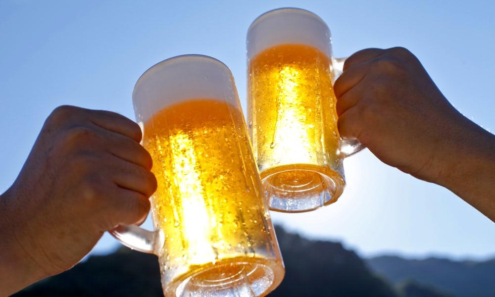 Leaving beer in sunlight