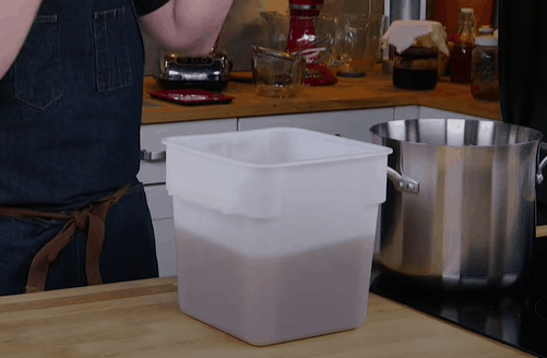 Store the mixture in ideal temperatures